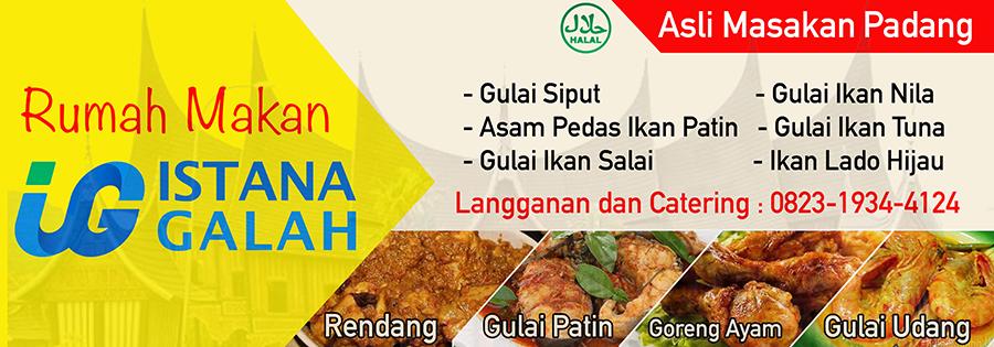 Download Design Spanduk Rumah Makan Istana Galah Riau Format PSD (Photoshop)