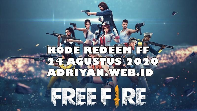 kode redeem ff 24 agustus 2020