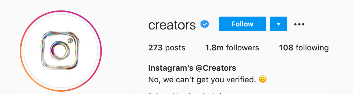 Mendapatkan Centang Biru di Instagram